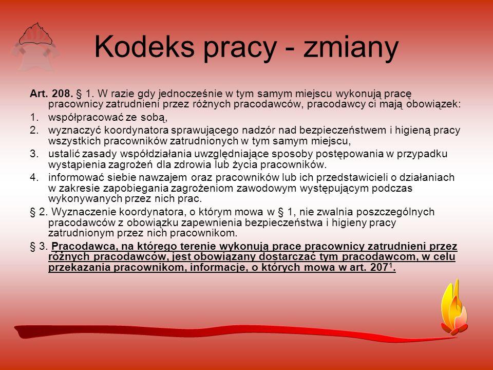 Kodeks pracy - zmiany Art.208. § 1.