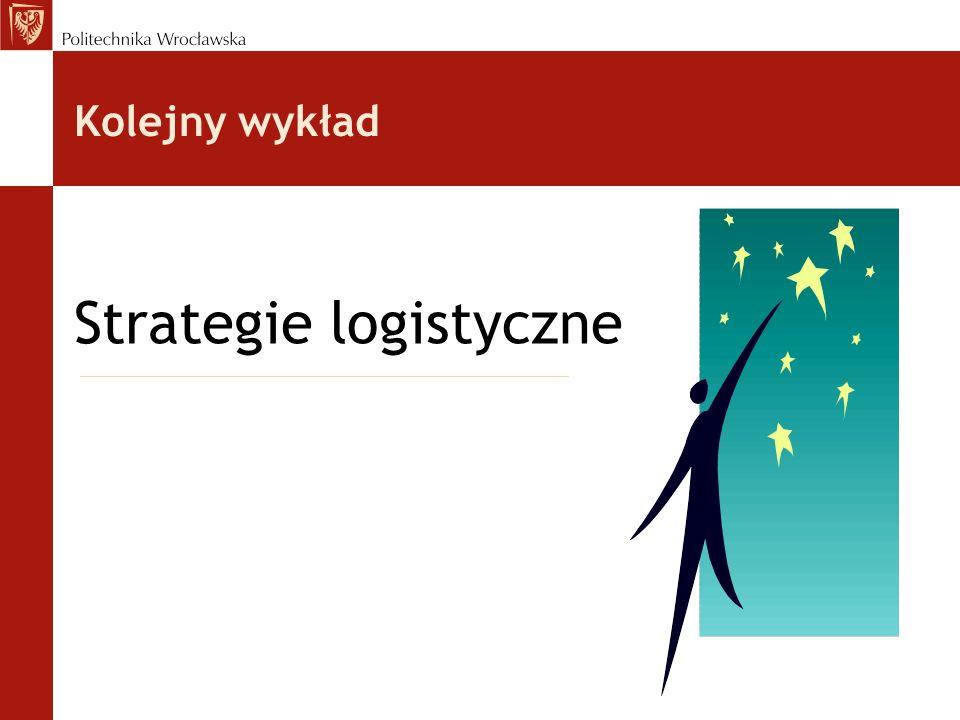 Kolejny wykład Strategie logistyczne