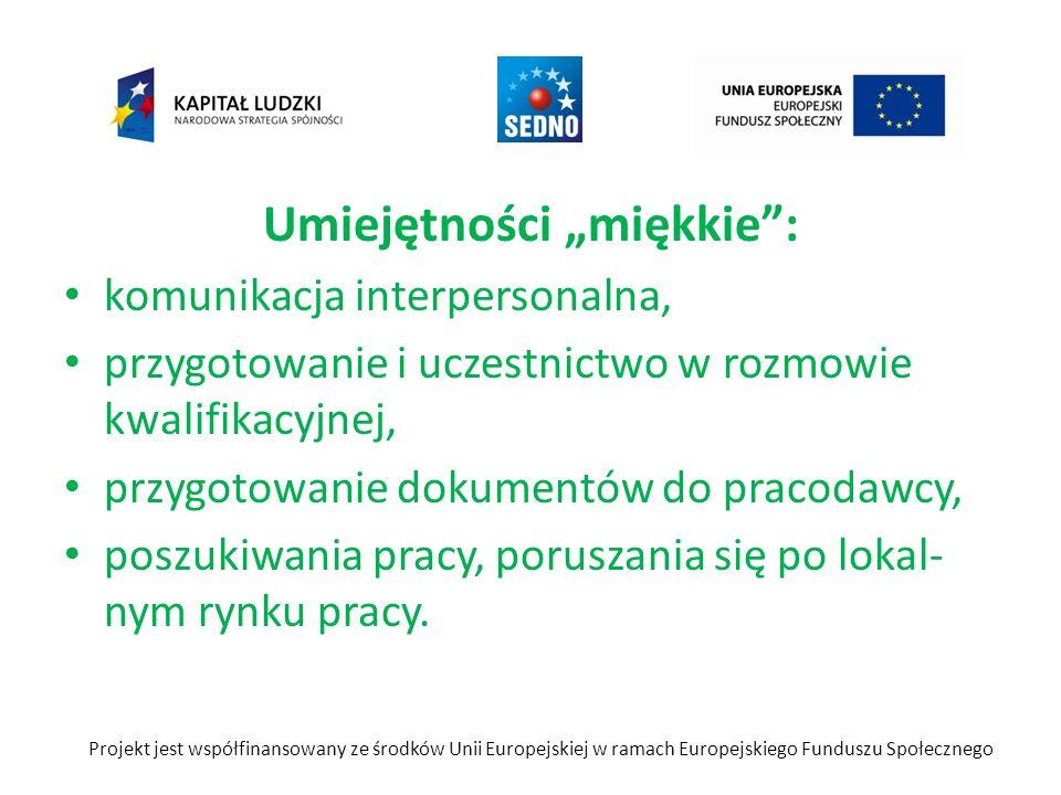 Umiejętności miękkie: komunikacja interpersonalna, przygotowanie i uczestnictwo w rozmowie kwalifikacyjnej, przygotowanie dokumentów do pracodawcy, po