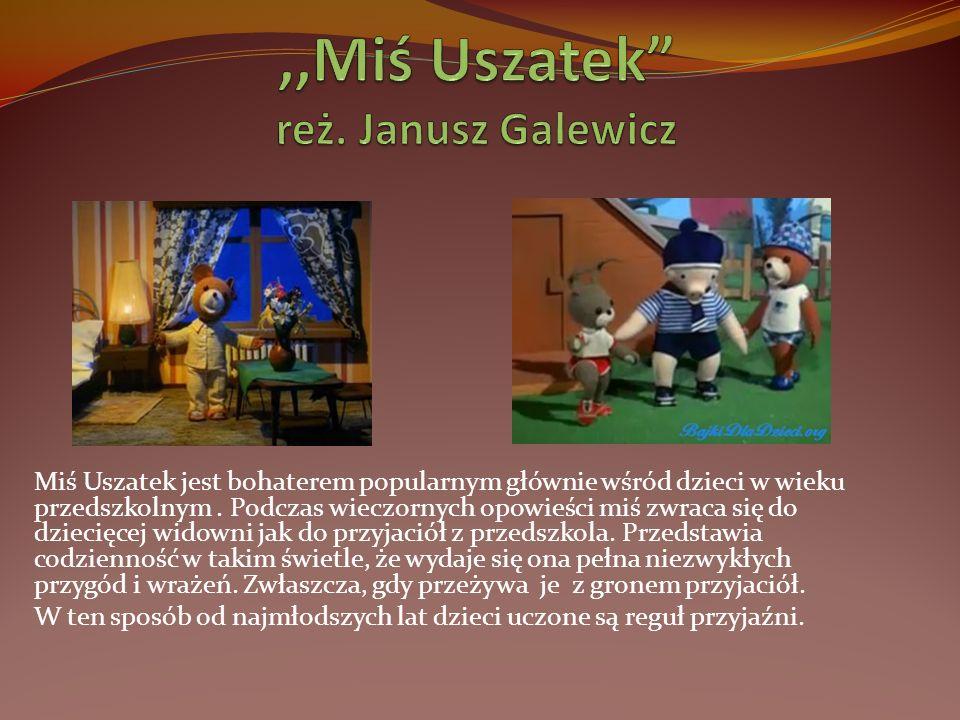 Miś Uszatek jest bohaterem popularnym głównie wśród dzieci w wieku przedszkolnym. Podczas wieczornych opowieści miś zwraca się do dziecięcej widowni j