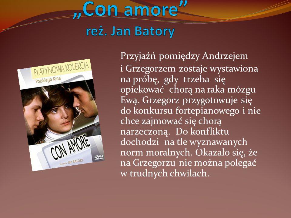 Przyjaźń pomiędzy Andrzejem i Grzegorzem zostaje wystawiona na próbę, gdy trzeba się opiekować chorą na raka mózgu Ewą. Grzegorz przygotowuje się do k
