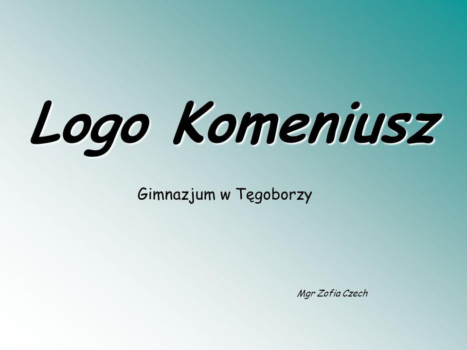 Mgr Zofia Czech Logo Komeniusz Gimnazjum w Tęgoborzy