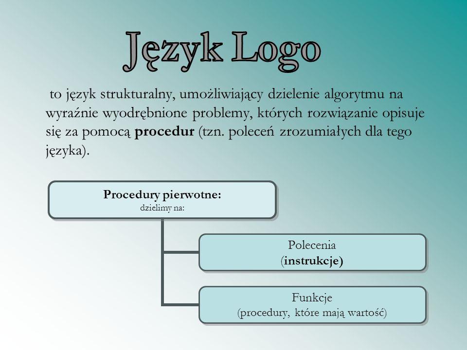 to język strukturalny, umożliwiający dzielenie algorytmu na wyraźnie wyodrębnione problemy, których rozwiązanie opisuje się za pomocą procedur (tzn. p