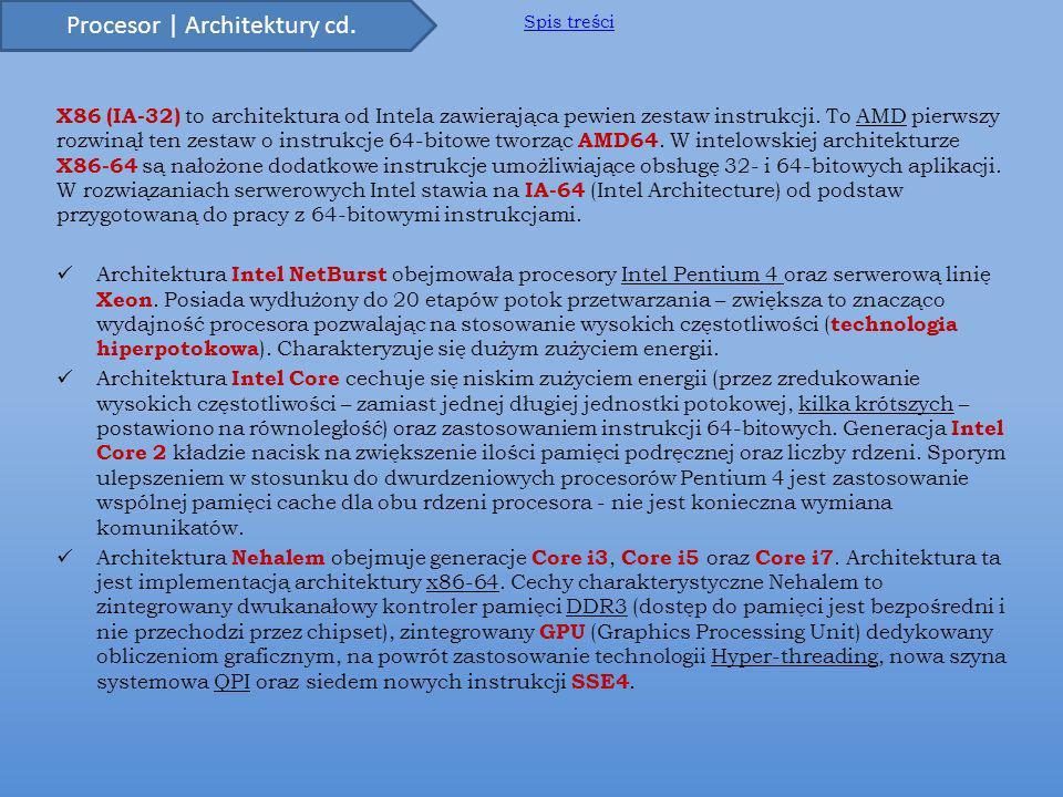 X86 (IA-32) to architektura od Intela zawierająca pewien zestaw instrukcji.