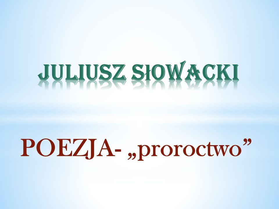 POEZJA- proroctwo