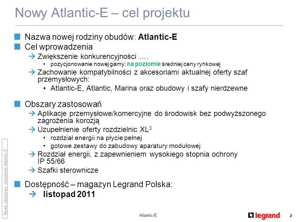 Nowe obudowy metalowe Atlantic-E Atlantic-E 3 Obudowy:27 numerów katalogowych Akcesoria: zamki i wkładki5 numerów katalogowych Nowy Atlantic-E – przegląd oferty