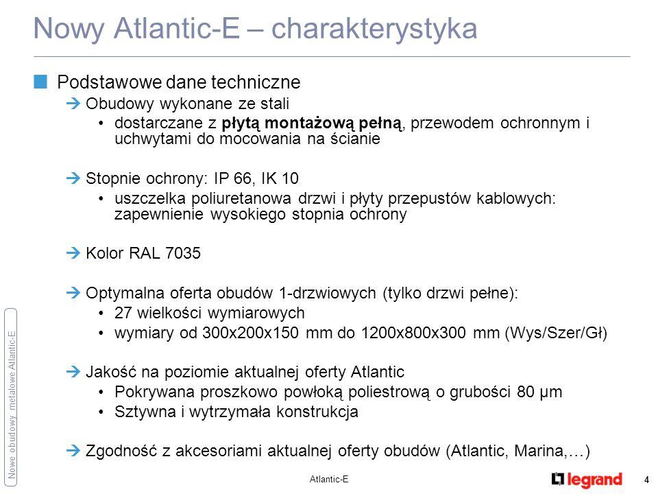 Nowe obudowy metalowe Atlantic-E Atlantic-E 5 Nowy Atlantic-E – charakterystyka Obudowa – estetyka RAL 7035 Uchwyty do mocowania na ścianie (standardowe lub do dużych obciążeń)