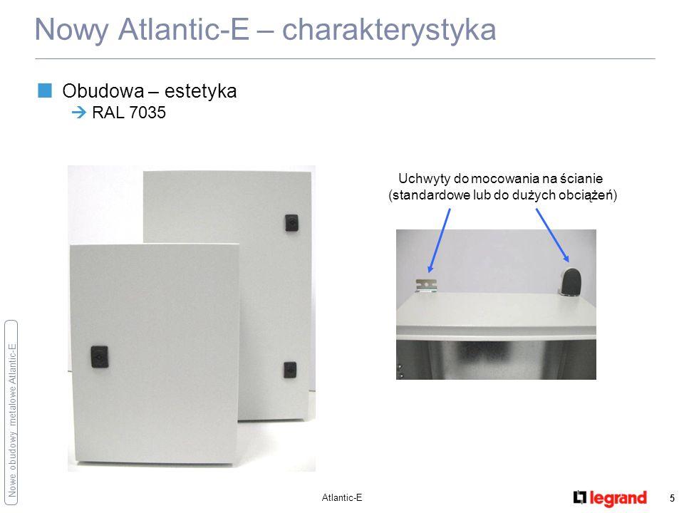 Nowe obudowy metalowe Atlantic-E Atlantic-E 6 Nowy Atlantic-E – charakterystyka Płyta montażowa płyta pełna (dostarczana z obudową) płyty Lina 12,5 do bezpośredniego montażu wyposażenia płyty perforowane Lina 25 Zwiększona wewnętrzna przestrzeń użytkowa