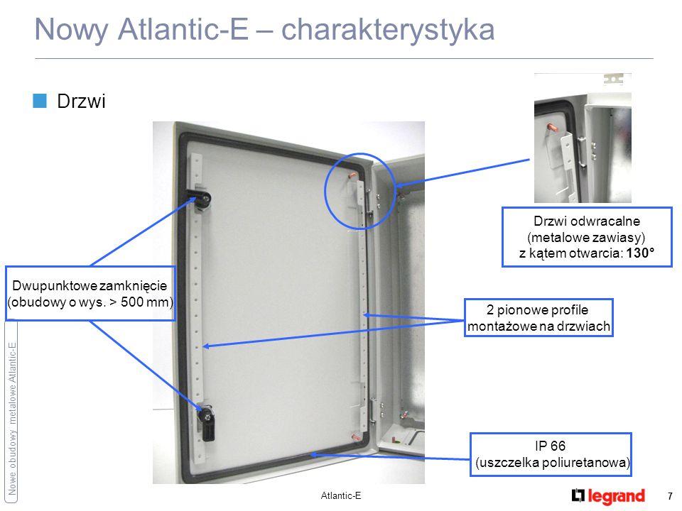 Nowe obudowy metalowe Atlantic-E Atlantic-E 8 Nowy Atlantic-E – charakterystyka Przepusty kablowe płyta przepustów kablowych na dole (np.