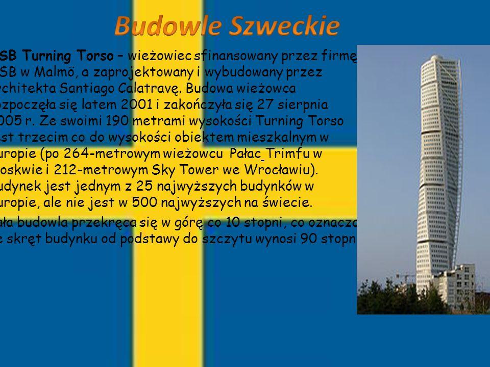 HSB Turning Torso – wieżowiec sfinansowany przez firmę HSB w Malmö, a zaprojektowany i wybudowany przez architekta Santiago Calatravę. Budowa wieżowca