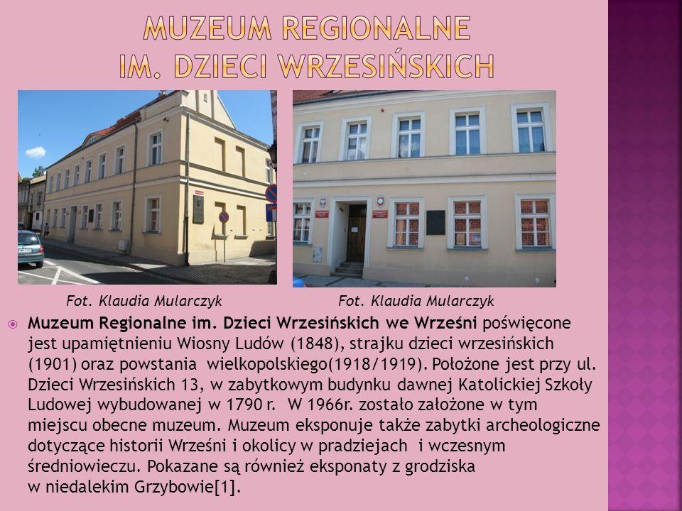 Muzeum Regionalne im. Dzieci Wrzesińskich we Wrześni poświęcone jest upamiętnieniu Wiosny Ludów (1848), strajku dzieci wrzesińskich (1901) oraz powsta