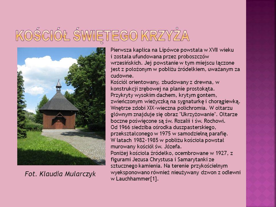 Pierwsza kaplica na Lipówce powstała w XVII wieku i została ufundowana przez proboszczów wrzesińskich. Jej powstanie w tym miejscu łączone jest z poło