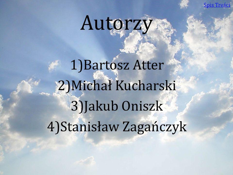 Autorzy 1)Bartosz Atter 2)Michał Kucharski 3)Jakub Oniszk 4)Stanisław Zagańczyk Spis Treści