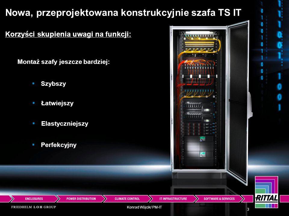 Konrad Wójcik/ PM-IT Montaż szafy jeszcze bardziej: Nowa, przeprojektowana konstrukcyjnie szafa TS IT Korzyści skupienia uwagi na funkcji: Szybszy Łat