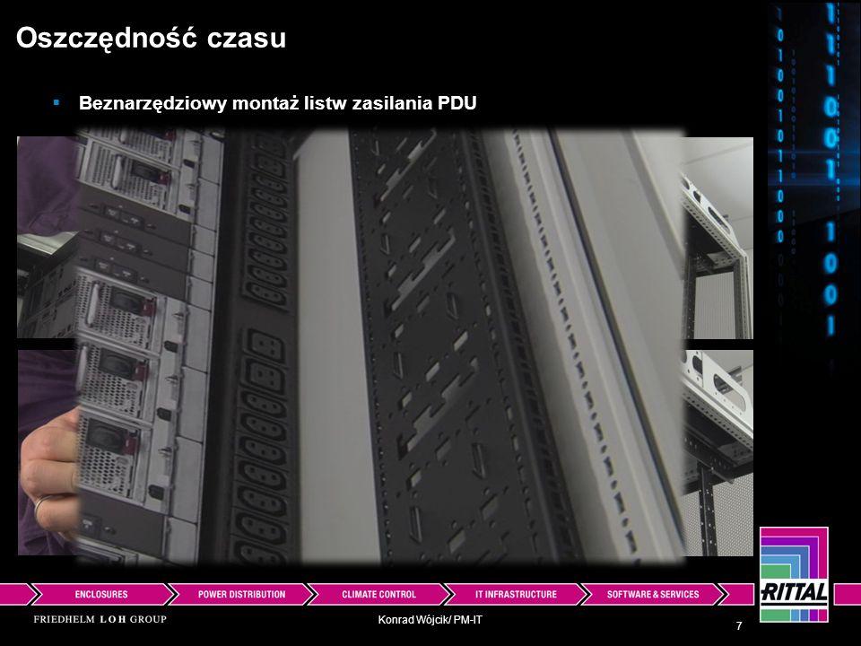 Konrad Wójcik/ PM-IT Podział szaf TS IT tylko na dwa typy: Oszczędność kosztów -drzwi przeszklone przednie, tylne pełne dla klimatyzacji szaf przez wymienniki ciepła woda/ pow.