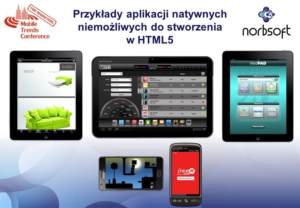 Przykłady aplikacji natywnych niemożliwych do stworzenia w HTML5