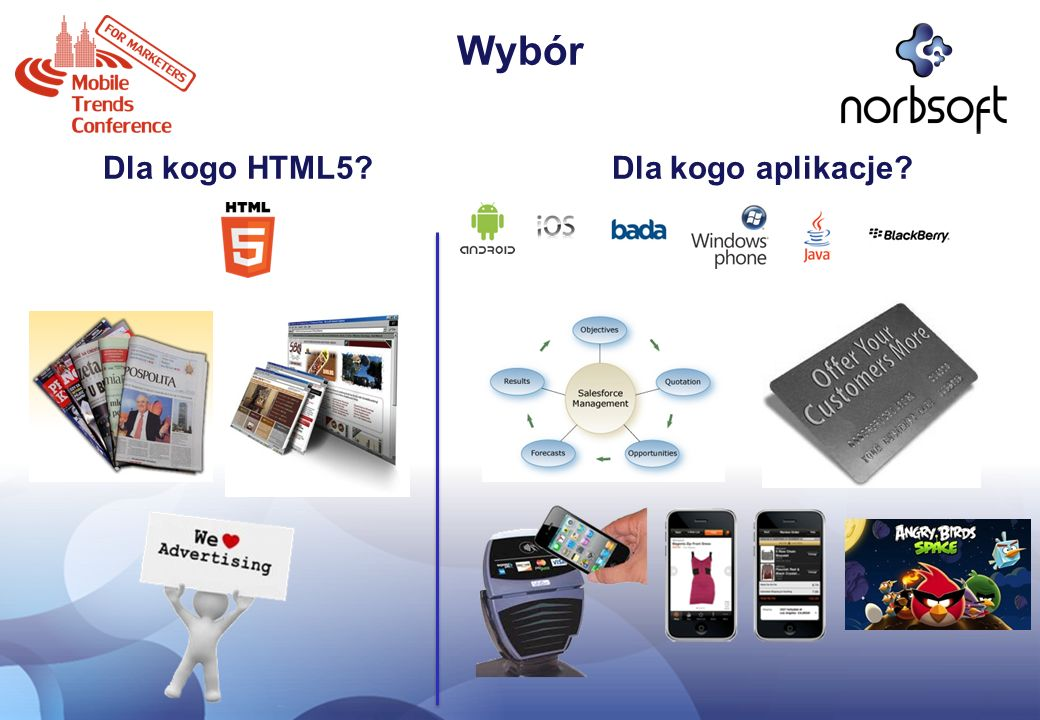 Wybór Dla kogo HTML5? Dla kogo aplikacje?