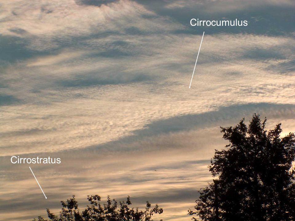 Cirrocumulus Cirrostratus