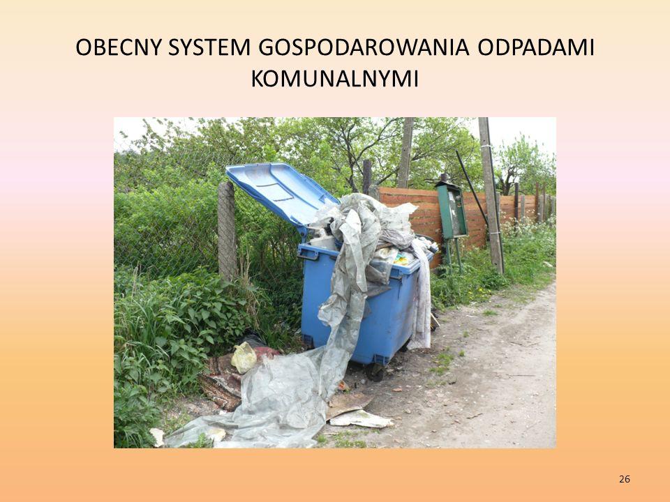 OBECNY SYSTEM GOSPODAROWANIA ODPADAMI KOMUNALNYMI 26