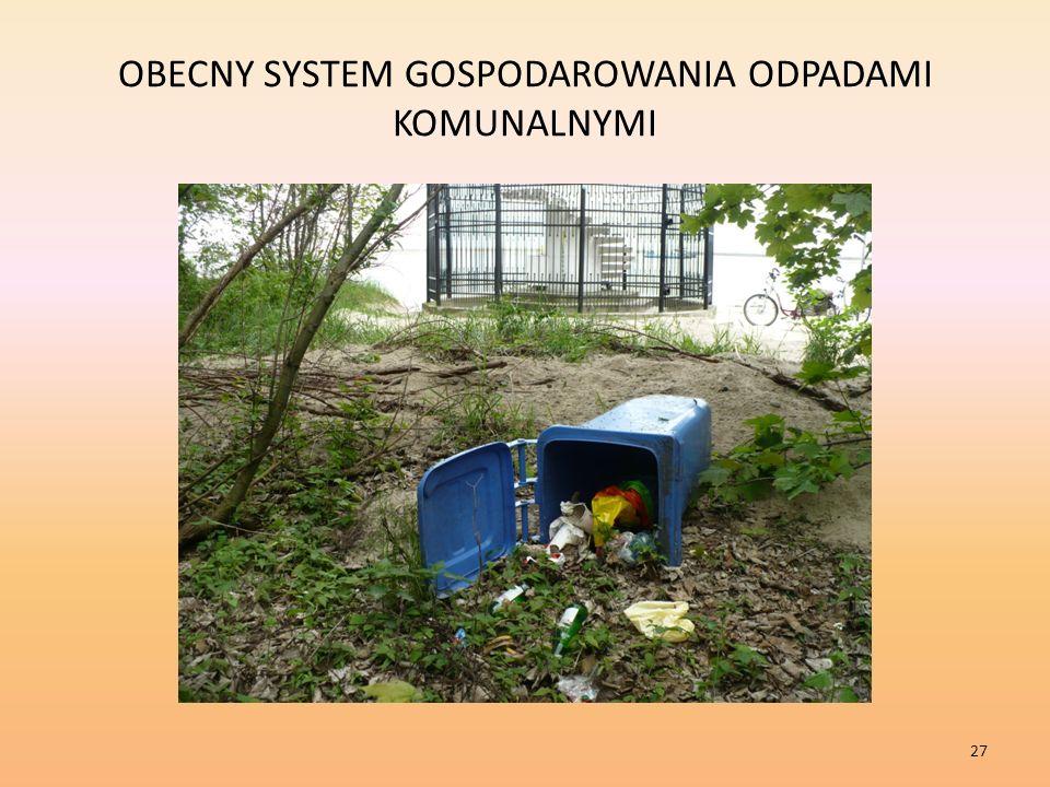OBECNY SYSTEM GOSPODAROWANIA ODPADAMI KOMUNALNYMI 27
