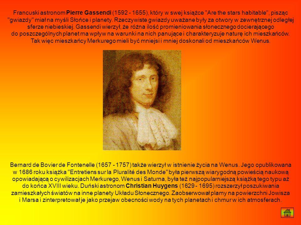Francuski astronom Pierre Gassendi (1592 - 1655), który w swej książce
