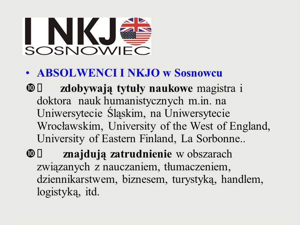 ABSOLWENCI I NKJO w Sosnowcu zdobywają tytuły naukowe magistra i doktora nauk humanistycznych m.in. na Uniwersytecie Śląskim, na Uniwersytecie Wrocław