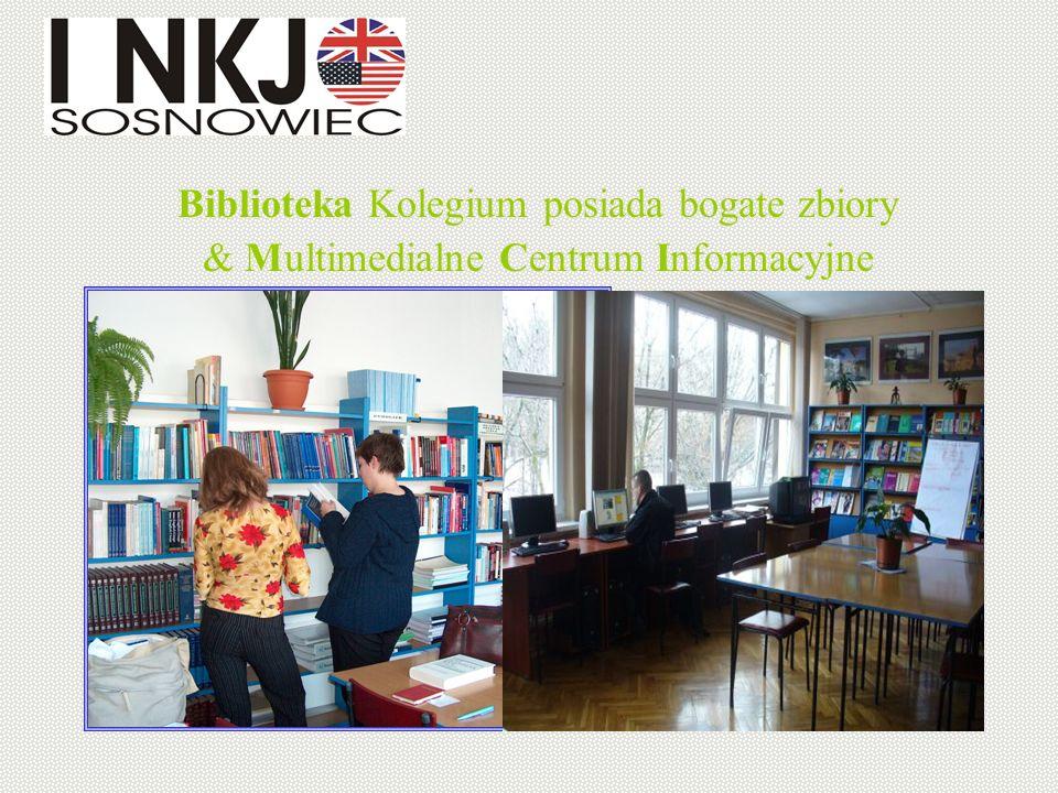 Biblioteka Kolegium posiada bogate zbiory & Multimedialne Centrum Informacyjne