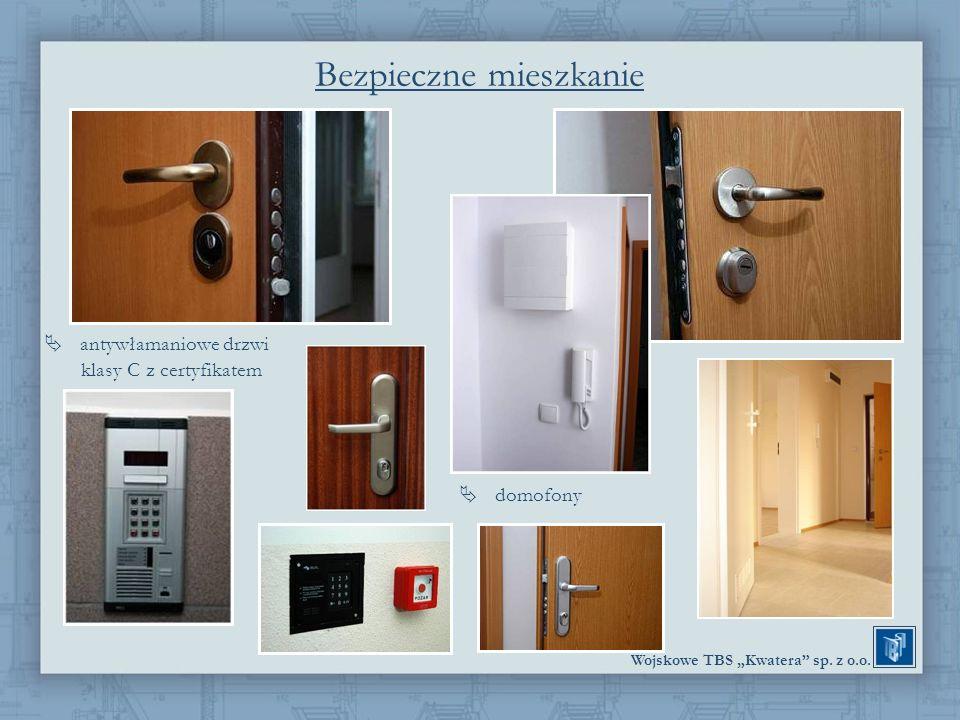 Wojskowe TBS Kwatera sp. z o.o. antywłamaniowe drzwi klasy C z certyfikatem Bezpieczne mieszkanie domofony