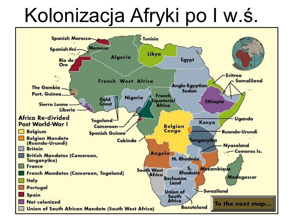 Kolonizacja Afryki po I w.ś.