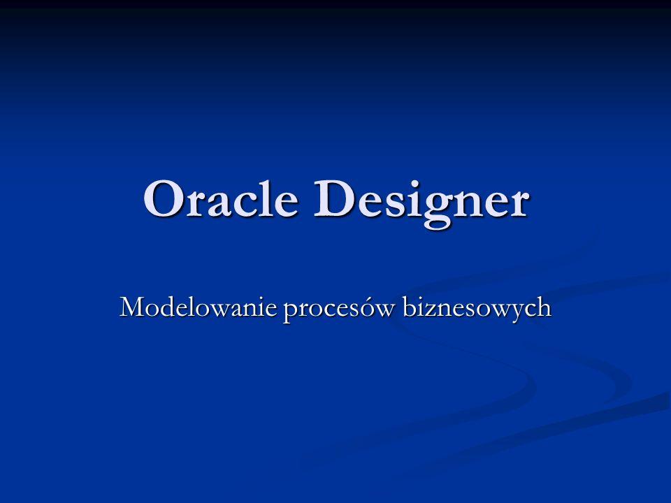 Oracle Designer Modelowanie procesów biznesowych