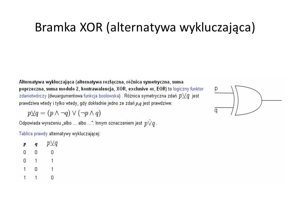 Bramka XOR (alternatywa wykluczająca)