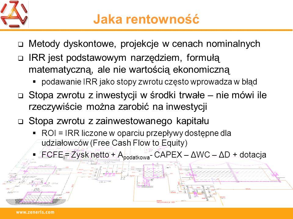 Jaka rentowność Metody dyskontowe, projekcje w cenach nominalnych IRR jest podstawowym narzędziem, formułą matematyczną, ale nie wartością ekonomiczną