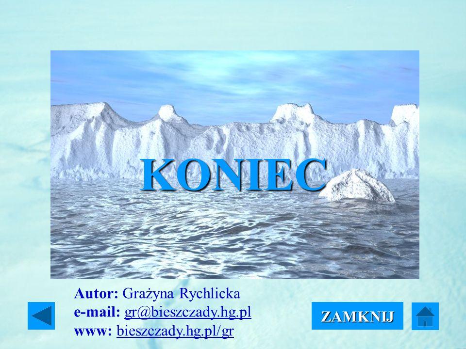 KONIEC ZAMKNIJ Autor: Grażyna Rychlicka e-mail: gr@bieszczady.hg.pl www: bieszczady.hg.pl/grgr@bieszczady.hg.plbieszczady.hg.pl/gr