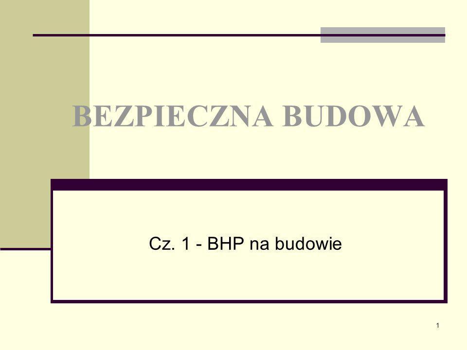 1 BEZPIECZNA BUDOWA Cz. 1 - BHP na budowie