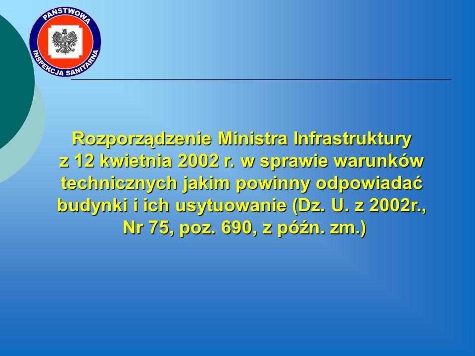 Rozporządzenie Ministra Infrastruktury z 12 kwietnia 2002 r.