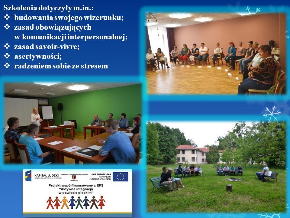 Szkolenia dotyczyły m.in.: budowania swojego wizerunku; zasad obowiązujących w komunikacji interpersonalnej; zasad savoir-vivre; asertywności; radzeni