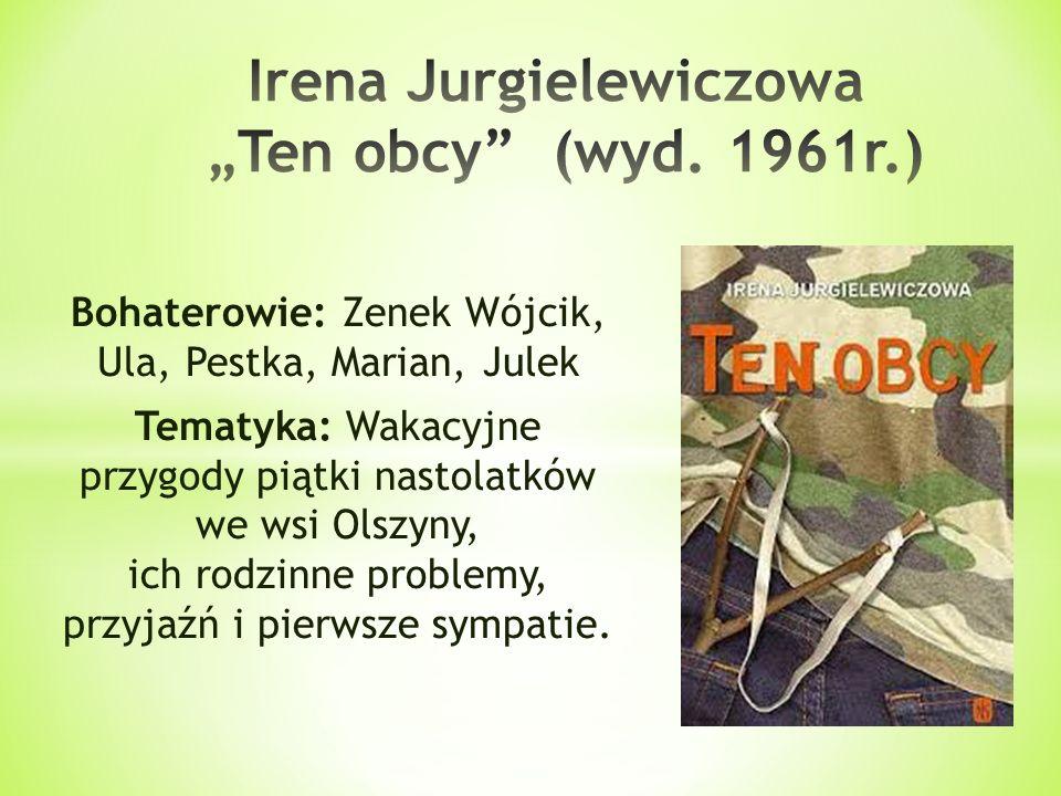 Bohaterowie: Zenek Wójcik, Ula, Pestka, Marian, Julek Tematyka: Wakacyjne przygody piątki nastolatków we wsi Olszyny, ich rodzinne problemy, przyjaźń
