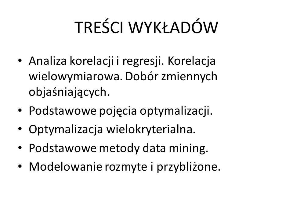 TREŚCI ĆWICZEŃ Treści ćwiczeń są ściśle powiązane z treścią wykładów.