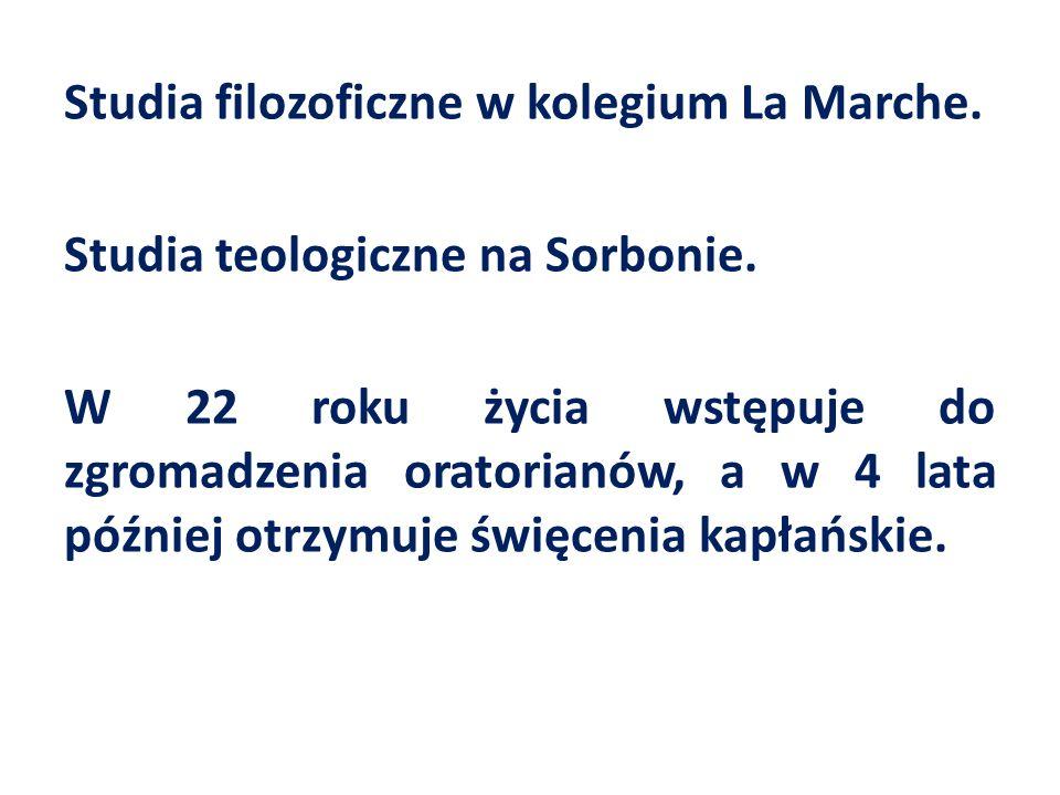 Studia filozoficzne w kolegium La Marche. Studia teologiczne na Sorbonie.