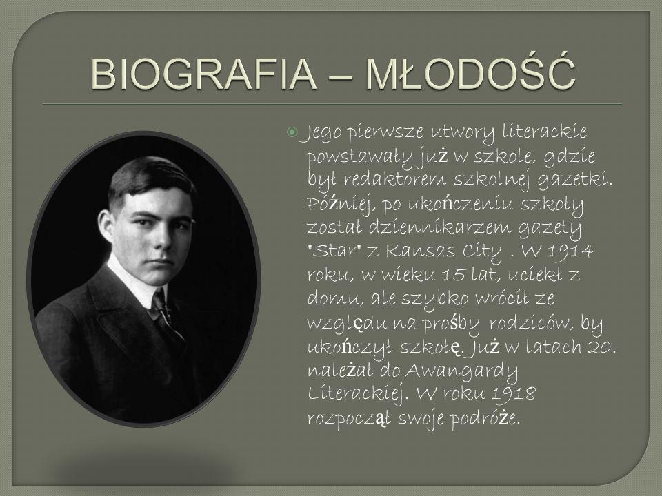Jego pierwsze utwory literackie powstawały ju ż w szkole, gdzie był redaktorem szkolnej gazetki. Pó ź niej, po uko ń czeniu szkoły został dziennikarze