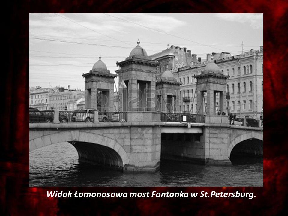 Zbrodnia i kara Widok Łomonosowa most Fontanka w St.Petersburg.