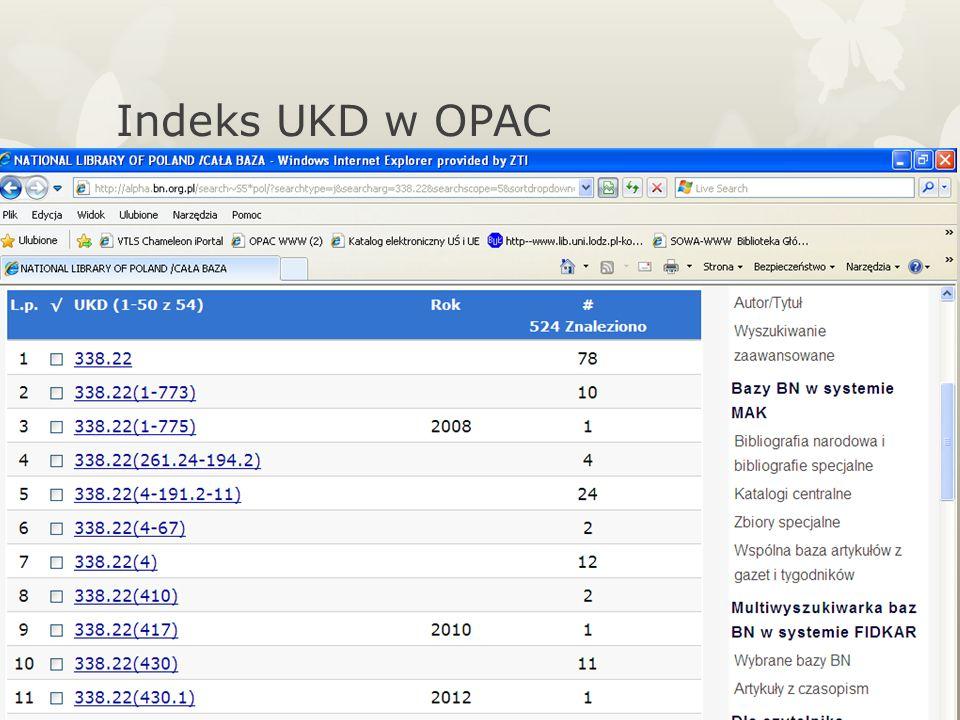 Indeks UKD w OPAC