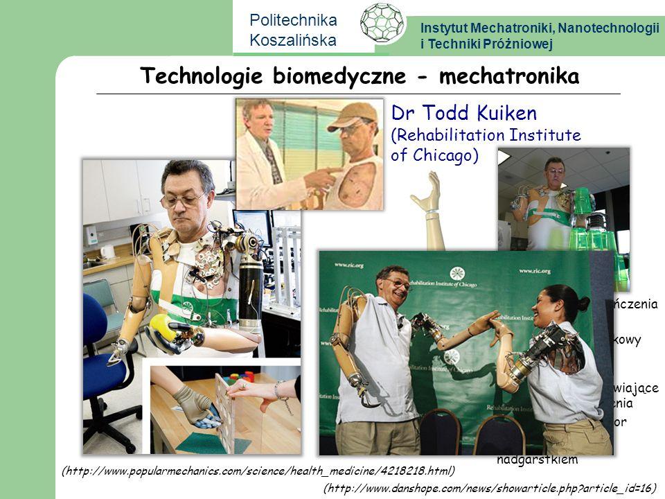 Instytut Mechatroniki, Nanotechnologii i Techniki Próżniowej Politechnika Koszalińska przeszczepione zakończenia nerwów ruchomy staw barkowy połączeni