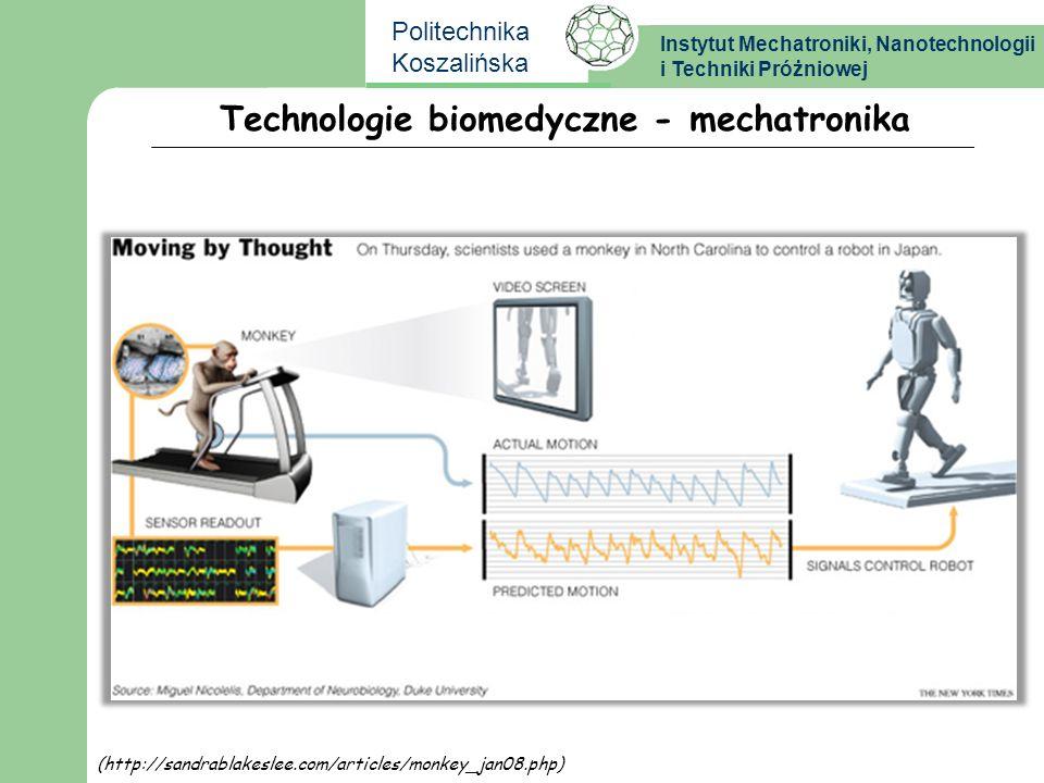 Instytut Mechatroniki, Nanotechnologii i Techniki Próżniowej Politechnika Koszalińska Technologie biomedyczne - mechatronika (http://sandrablakeslee.c