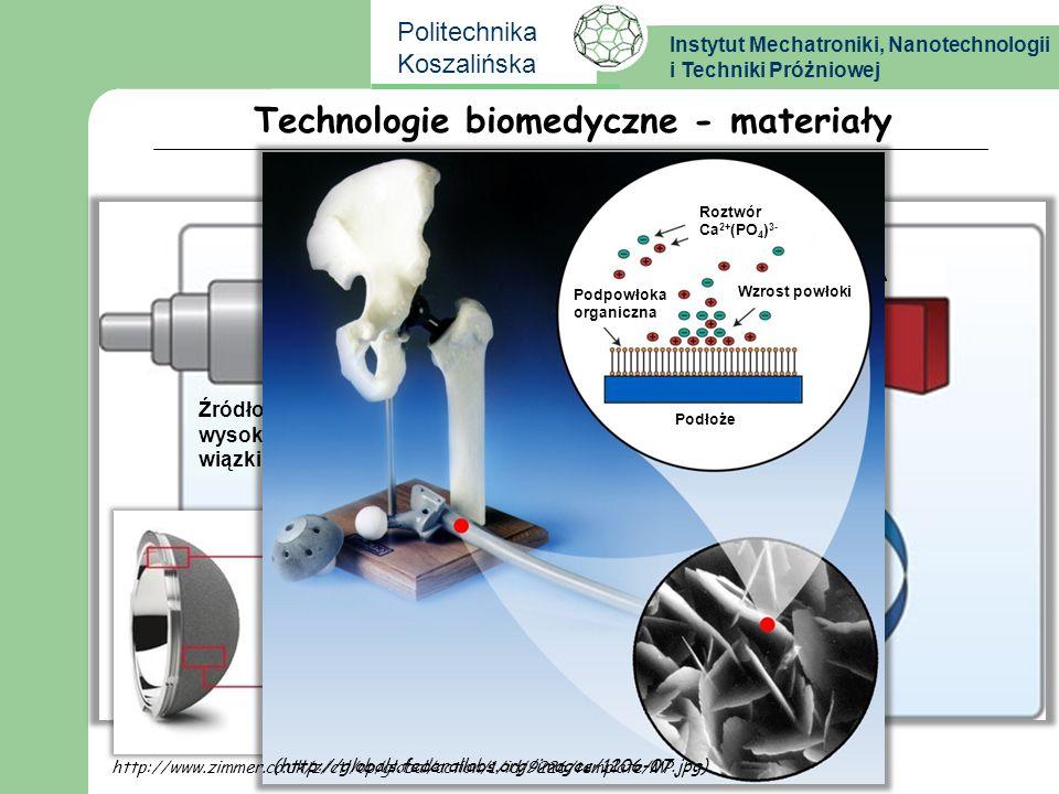 Instytut Mechatroniki, Nanotechnologii i Techniki Próżniowej Politechnika Koszalińska (http://www.osseotech.com/?tid=5) Komora próżniowa Target HA Źró
