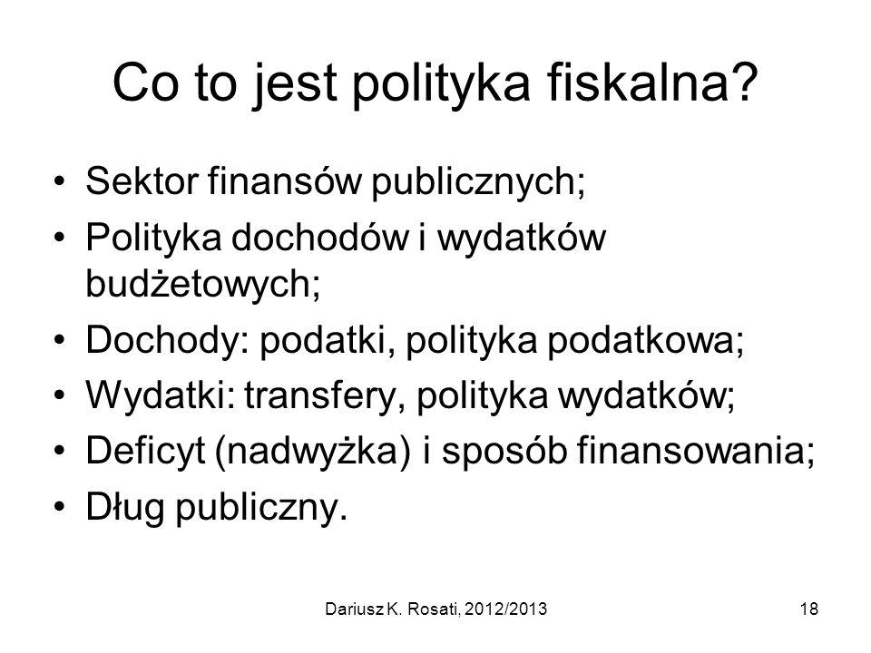 Co to jest polityka fiskalna.