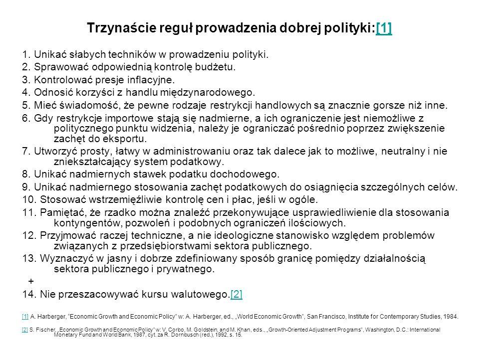 Trzynaście reguł prowadzenia dobrej polityki:[1][1] 1.
