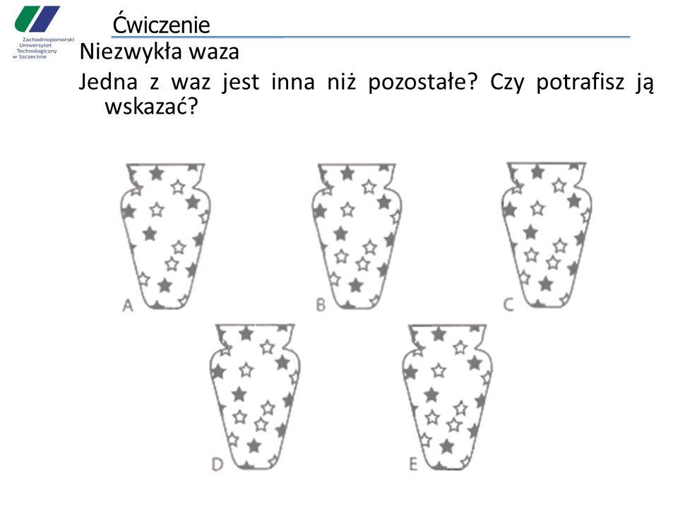 Ćwiczenie Niezwykła waza Jedna z waz jest inna niż pozostałe? Czy potrafisz ją wskazać?
