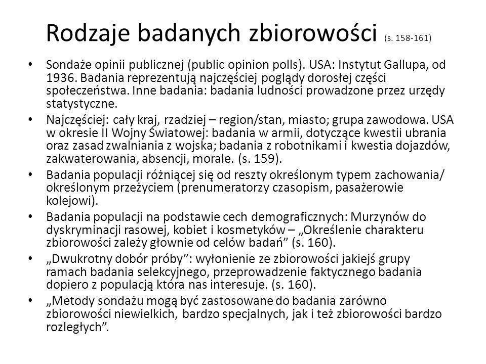 Typy badań sondażowych (sondaż ankietowy…, s.