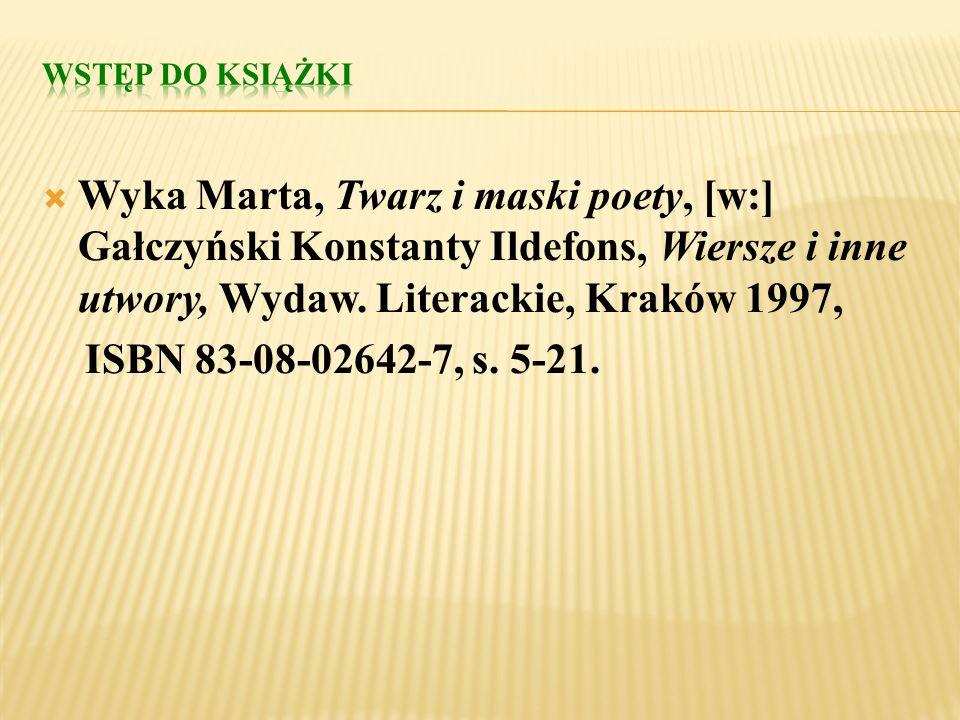 Leśmian Bolesław, Topielec, [w:] Poezja polska w szkole średniej od średniowiecza do współczesności, wybór Anna Rajca, Jerzy Polanicki, Wyd. 2, Wydaw.